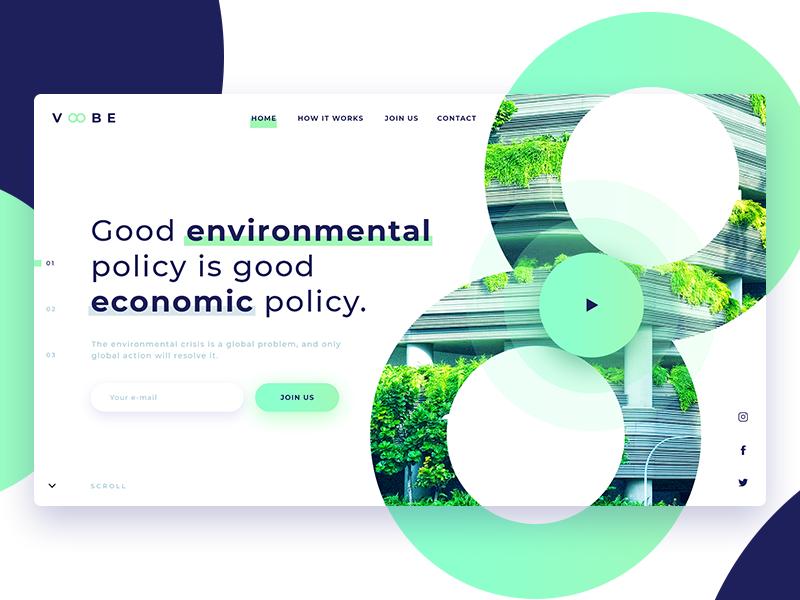 رنگ سبز در طراحی وبسایت