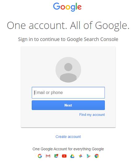 لاگین در جیمیل برای ثبت سایت در گوگل وب مستر