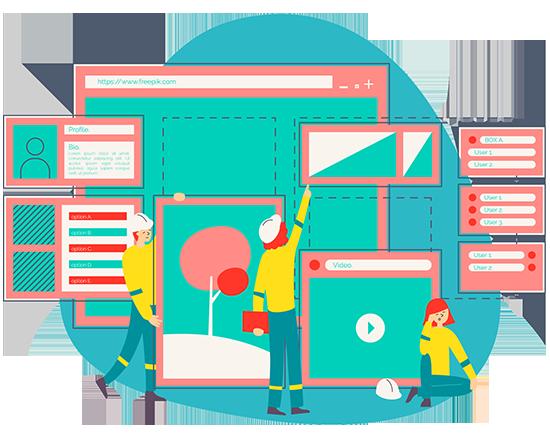 طراحی صفحه اصلی سایت فروشگاهی