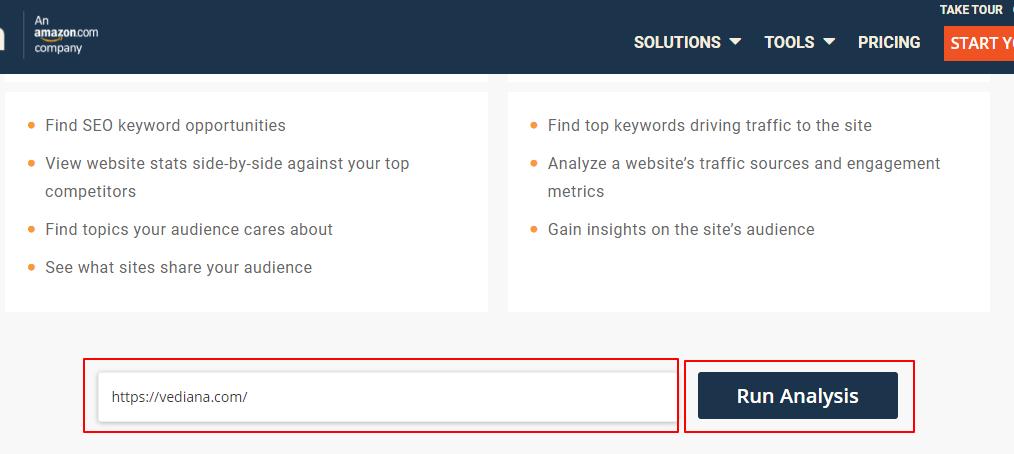 نمایش اطلاعات سایت در الکسا