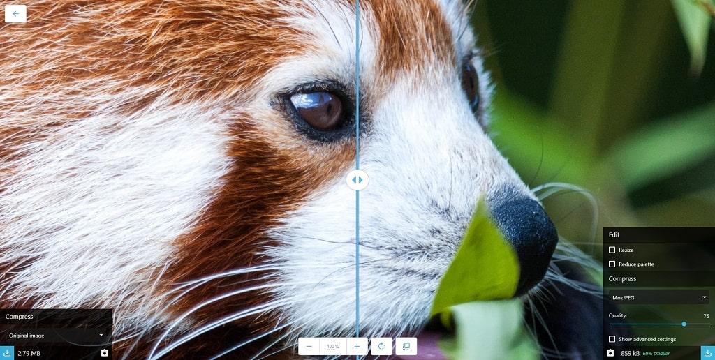کاهش حجم عکس PNG آنلاین در Squoosh گوگل